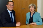 Andrew Atkinson with Theresa May MP